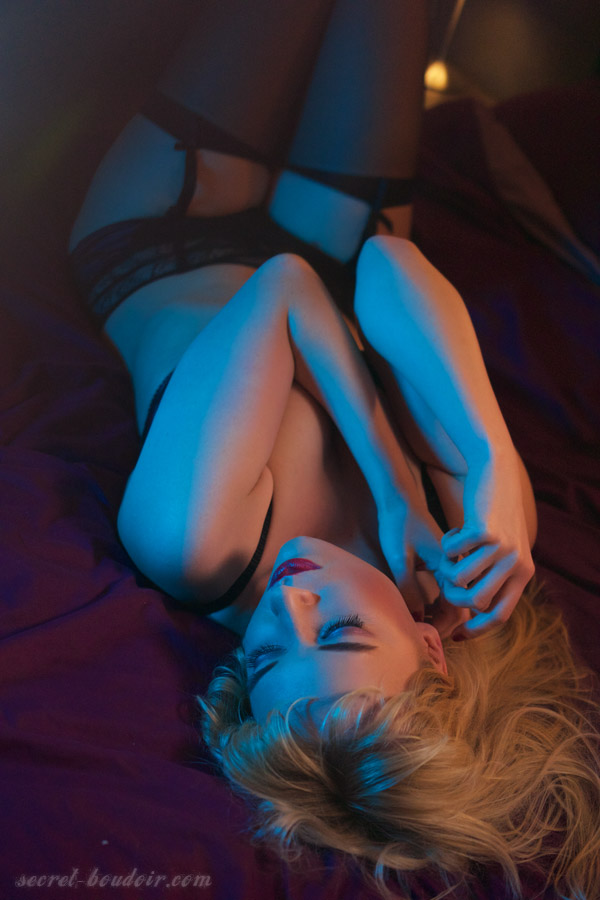 boudoir colour gels photo shoot