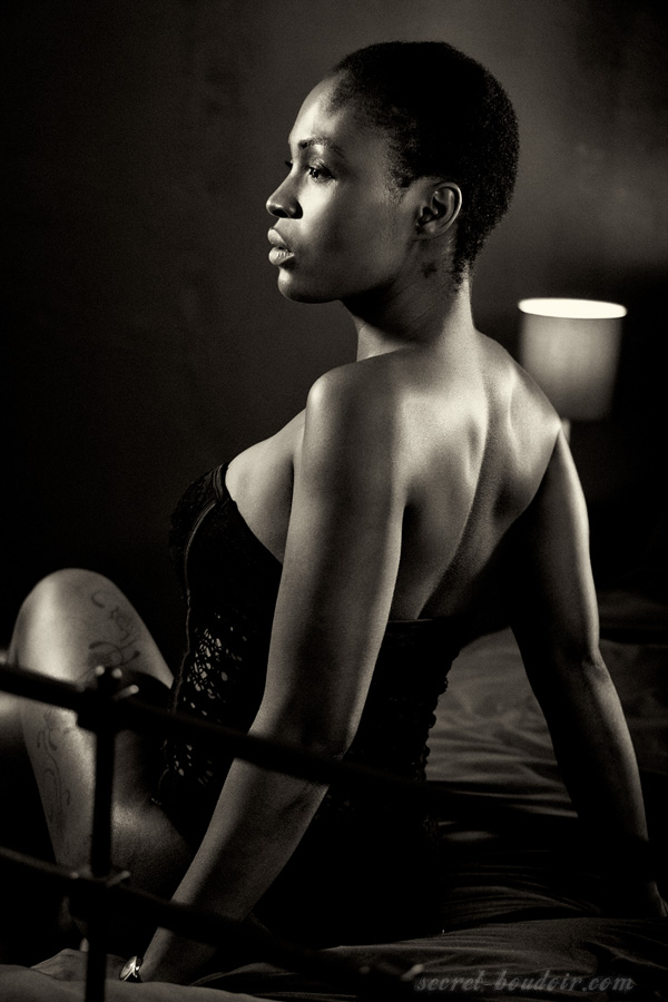 Monochrome boudoir photography