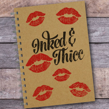 Inked And Thicc Kisses Kraft A5 Notebook